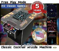 Retro Cocktail Arcade Machine Avec 412 Jeux Classiques, Voyage Chrome, Ms Pacman