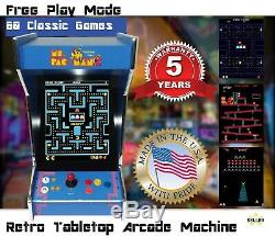 Retro Tabletop Ms Pacman Arcade Machine 60 Classique Gamesgalaga, Donkey Kong