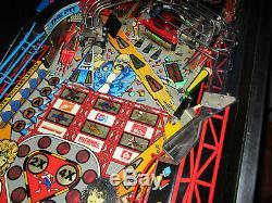 Rollergames Arcade Pinball Machine Williams 1990 (led Sur Mesure)
