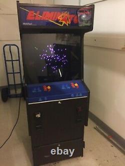 Sega Eliminator 2 Lecteur De Travail Vector Arcade Machine! Très Rayonnée
