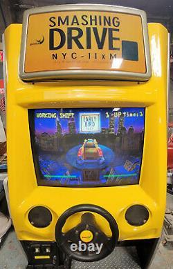 Smashing Drive (crazy Taxi) Arcade Driving Course Vidéo Jeu Machine Travailleurs Grands