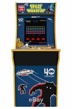 Space Invaders Arcade1up Retro Accueil Arcade Machine Cabinet 4ft 2 Jeux In 1 Nouveau