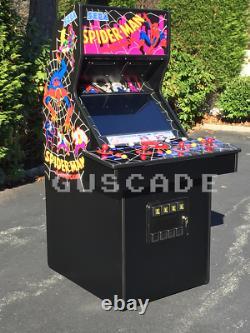Spider-man Arcade Machine New Full Size Jeu Vidéo Joue De Nombreux Classiques Guscade