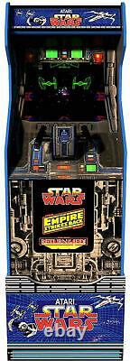 Star Wars Arcade1up Home Cabinet Machine Avec Custom Riser Flambant Neuf