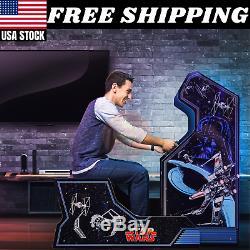 Star Wars Arcade Machine Avec Banc Seat Limited Edition Arcade1up 17 Écran