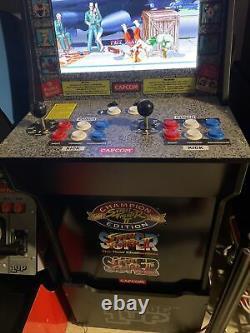 Street Fighter 2 Arcade1up Retro Machine De Jeu Vidéo Avec Riser 3 Jeux En 1