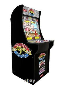 Street Fighter 2 Arcade Machine Retro Original Artwork Cabinet 3 Jeux LCD Nouveau