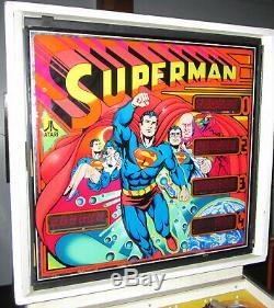 Superman Arcade Pinball Machine Par Atari 1979 (led Sur Mesure Et Excellent État)