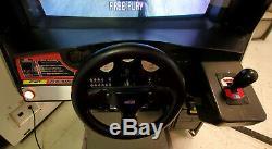 Taxi Arcade Fou Assis Driving Arcade Video Game Machine! Fonctionne Très Bien