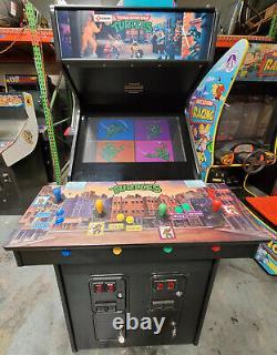 Teenage Mutant Ninja Turtles 4 Player Arcade Video Game Machine 27 Lcd! Classique