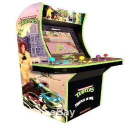 Teenage Mutant Ninja Turtles Arcade1up Retro Gaming Machine Avec Riser Navire Prêt