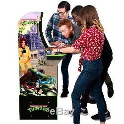 Teenage Mutant Ninja Turtles Arcade Machine Avec Riser, Arcade1up Jeu De Table