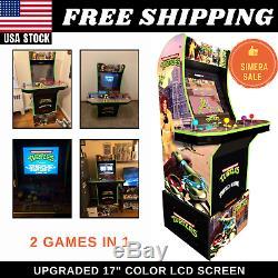 Teenage Mutant Ninja Turtles Retro Arcade Gaming Machine Cabinet W Riser 1up Nouveau