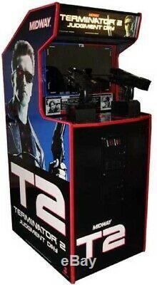 Terminator 2 Arrêt Machine Jour Arcade Par Midway 1991 (excellent État)