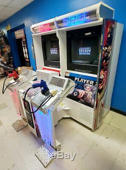 Time Crisis 4 Twin (2) Linked Tir Arcade Video Game Machine! Bon Travail
