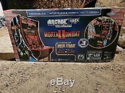 Tout Neuf Arcade1up Mortal Kombat I II III Arcade Machine 4ft 4 Pieds 3-in-1