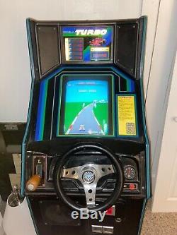 Véritable 1981 Machine Sega Arcade Turbo Race Car Coin Operated