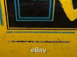 Vintage 1980 Mfg Midway. Original Pac-man Arcade Machine Withxtra Board Speed up
