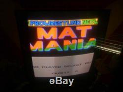 Vintage 1982 Mat Mania By Memtron Jeu De Machine D'arcade Vidéo