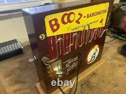 Vintage Nickle Baromètre Booz Fonctionné Coin Machine Bar Game 1971