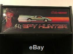 Vintage Restored 1983 Machine De Jeu D'arcade Hunter Bally Midway Spy Hunter Fonctionne 100%