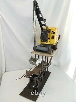 Vintage Tonka Pressé Grue En Acier Pelle Carnival Game Machine Digger Claw