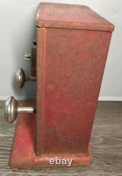 Vtg 1930 Electricity Shock Machine 1c Pièce Op Penny Arcade Carnival Shocker
