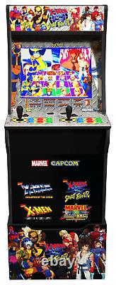X-men Vs Street Fighter Arcade1up Gaming Cabinet Machine Avec Matching Riser Nouveau